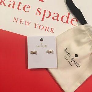 "♠️ NWT KATE SPADE ""ready set bow"" earrings - gold"